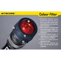NITECORE NFR34 34mm Filter - rot
