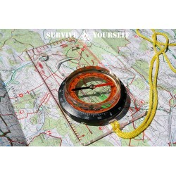 """Karten- und Navigationskompass """"Flach-Navi"""""""