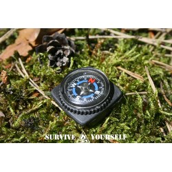 Button-Kompass mit Schlaufe fürs EDC / Survival-Kit