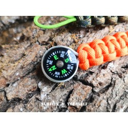 Mini-Kompass mit Paracord fürs EDC / Survival-Kit
