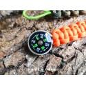 Mini-Kompass mit Paracord fürs EDC / Survival-Kit