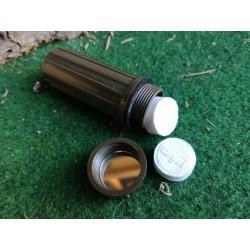 Kleiner Rundcontainer / Zundhölzerbox oliv